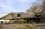 It no longer exists. Wind tunnel wooden model 1 3 scale of Buran is at the far corner of Zhukovsky airfield. (11137924623).jpg