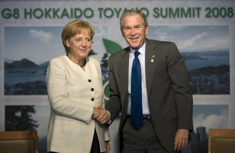 President Bush Meets with Chancellor Merkel of Germany at G8 Summit.jpg